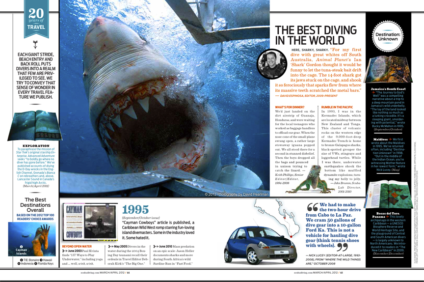 "Scuba Diving Magazine Publishes ""BELCH""!"